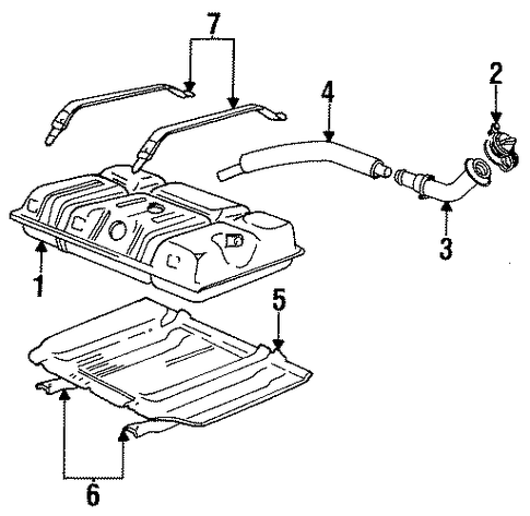 FUEL SYSTEM COMPONENTS for 1997 Ford F-350