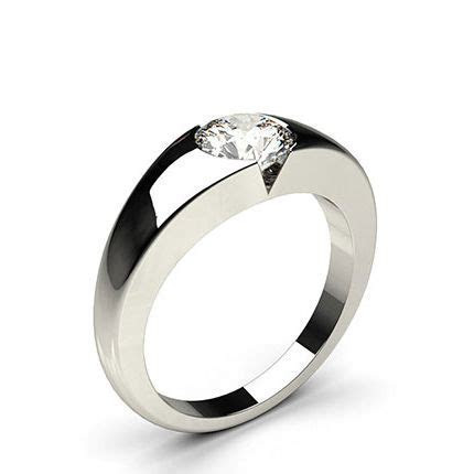 Buy Flush Setting Plain Engagement Ring Online UK