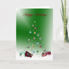 Hollow Tree Happy Holiday Card card