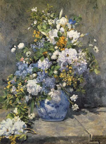 Pierre-Auguste Renoir - Big vase with flowers