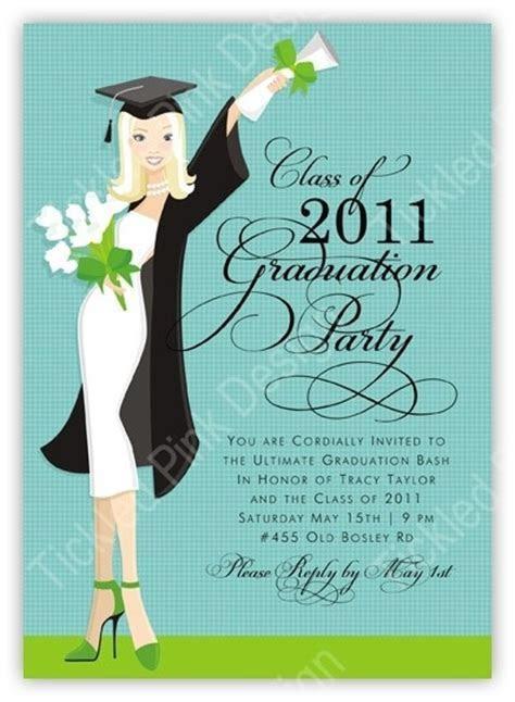 Glamour Girl Blonde Graduation Invitation   Graduation