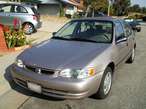My Toyota Corolla after it was repaired.