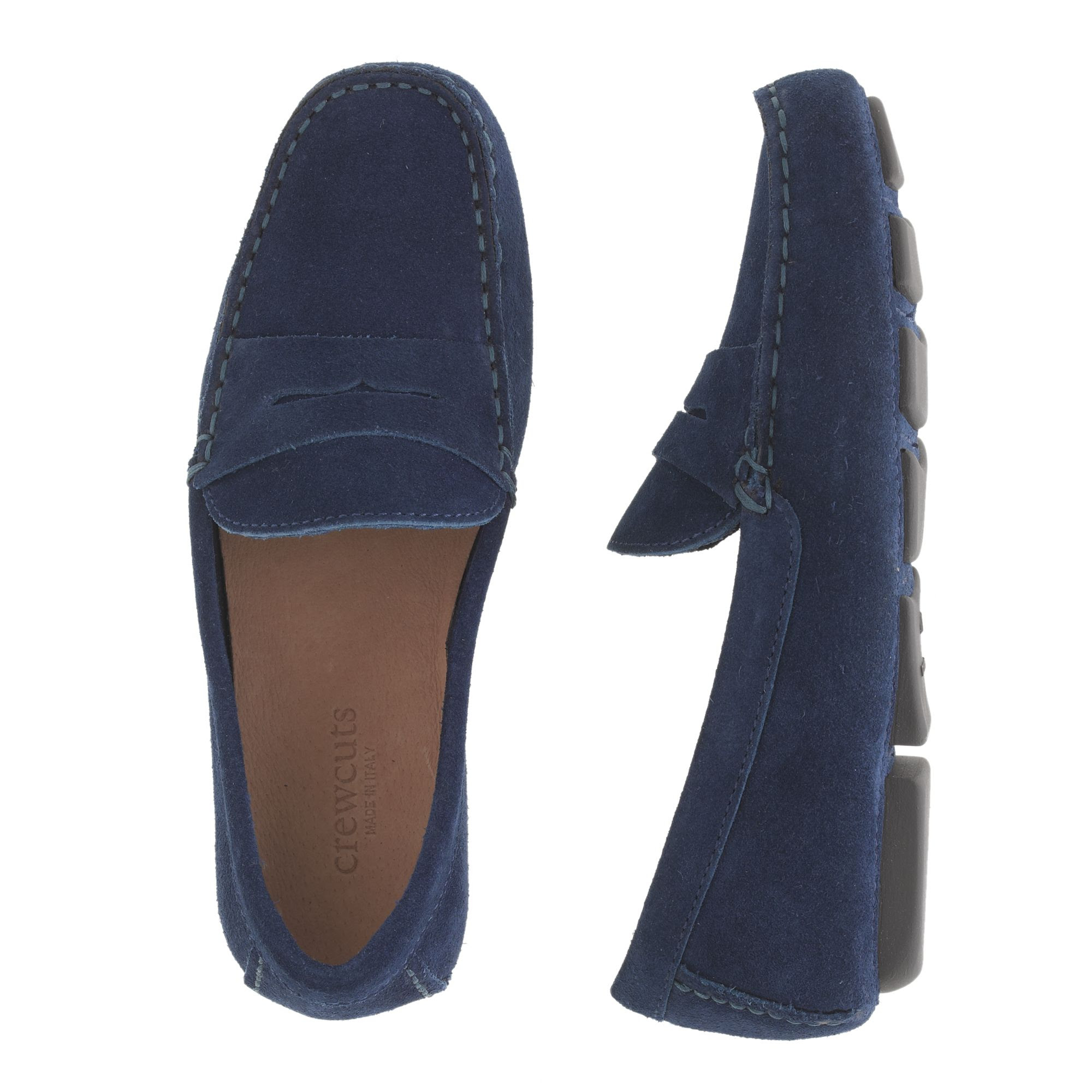 J.crew Kids Suede Penny Loafers in Blue for Men (fairmont ...