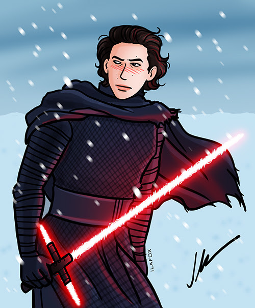 kylo ren, fanart, adam driver, ben solo, star wars, derpertar da força, the force awakens, by ila fox