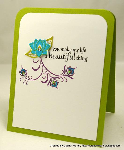 Life beautiful card 2012