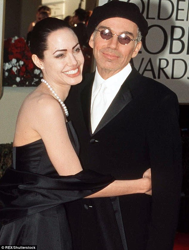 Happy memories: But just three years later he was attending with then wife Angelina