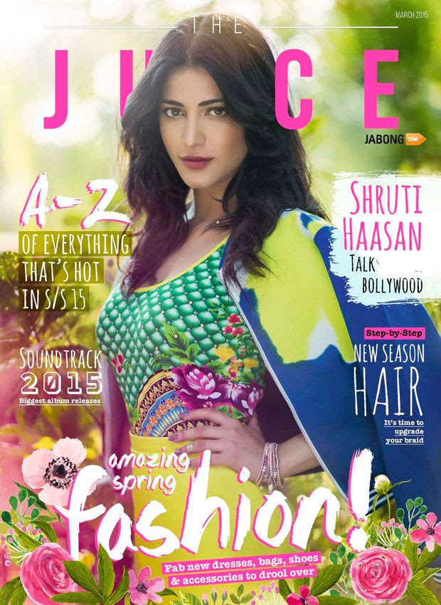 Shruti Hassan on Magazine cover super sexy