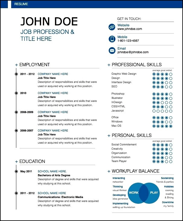 25 Best Modern Resume Ideas Best Resume Examples
