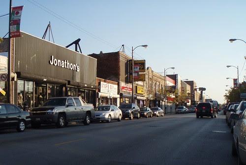 S. Michigan Avenue commercial strip