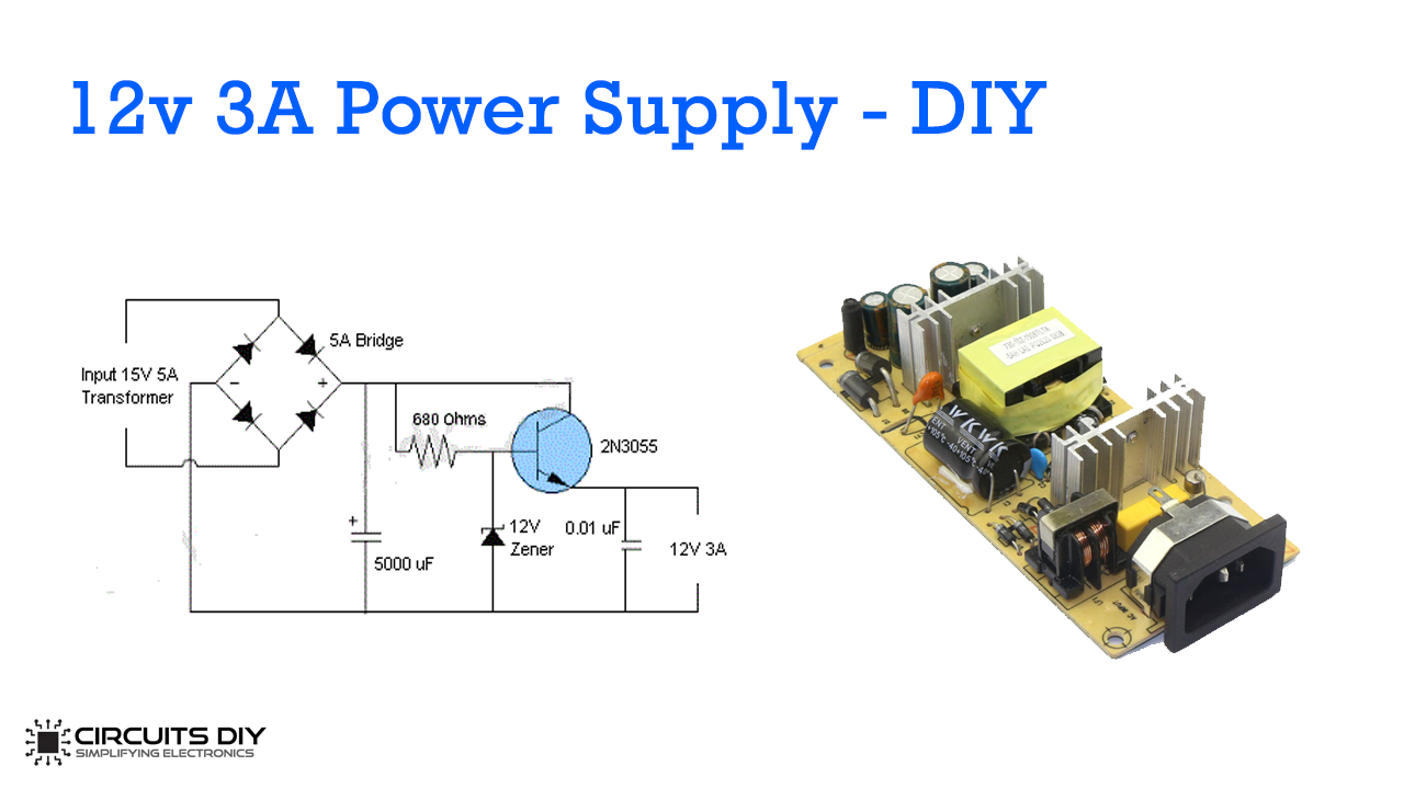 12v 5a Power Supply Using Lm338 Ic
