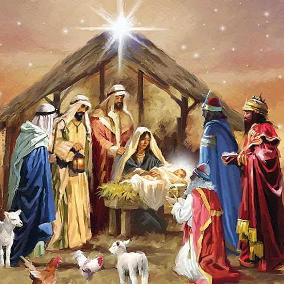 Holy family and the Three Wise Men luncheon paper napkins. Details: Set of 20 lunch paper napkins 6.5 x 6.5 (Open 13 x 13) Three-ply, bleached without Chlorine Made in The Netherlands