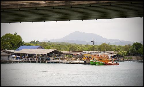 View under Sarasin Bridge