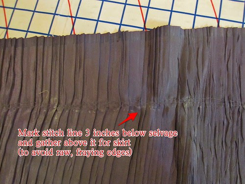 Mark Stitch Line on Skirt