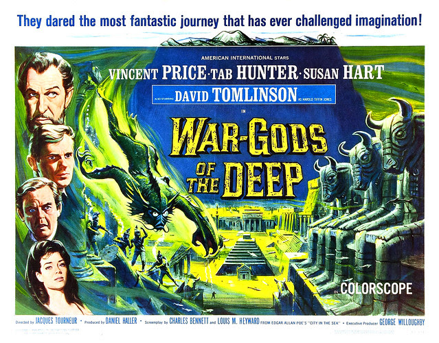 Reynold Brown - War Gods of the Deep (American International, 1965) half sheet