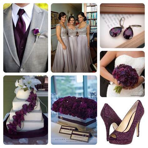 Grey and dark plum wedding!   Wedding   Pinterest