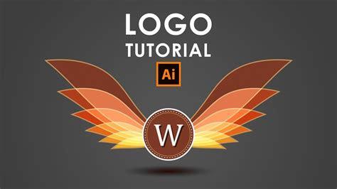create  wings logo illustrator tutorial art