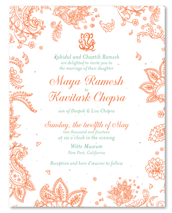Affordable Indian Smile Wedding Invites
