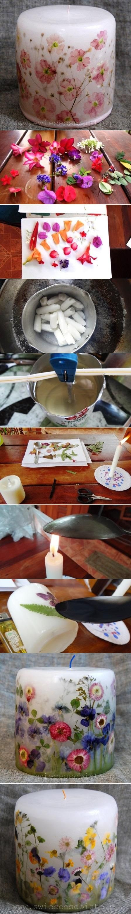 DIY Flower Candle