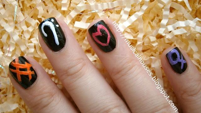 chalkboard manicure step 2