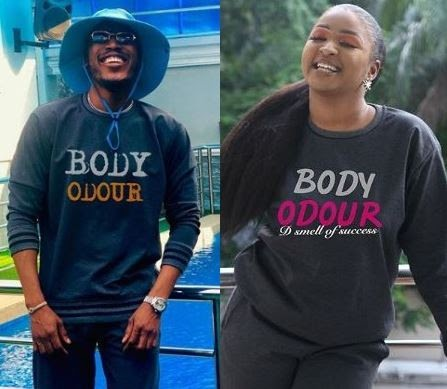 Mr 2kay And Etinosa Rock 'Body Odour' Sweat Shirts In Support Of #BBNaija Housemate, Tacha