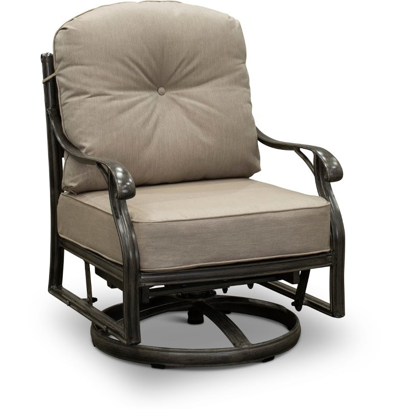 High Back Patio Dining Swivel Rocker Macan Rc Willey Furniture Store