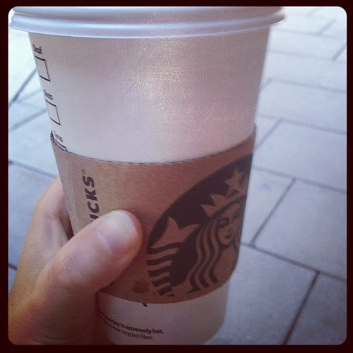 Fall means it is officially chai tea latte time. #starbucks