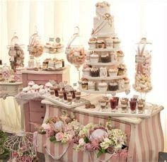 Wedding Candy Buffet table   silver, grey and white