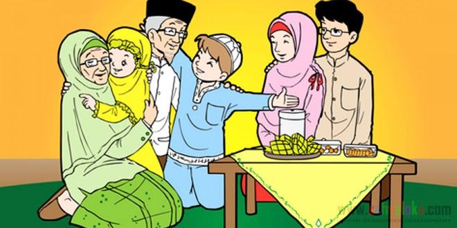 98 Kartun Keluarga Islami Bahagia Cikimm Com