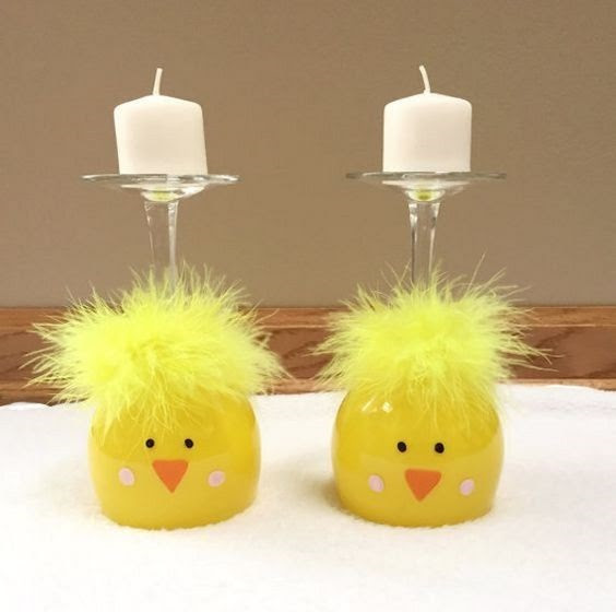 Easter Wine Glass Centerpieces Crafty Morning