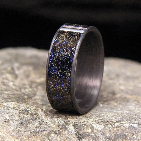 Blue Twilight Meteorite Shavings Inlay Carbon Fiber