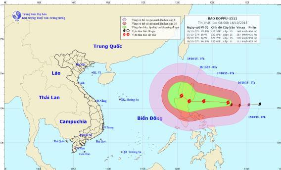 Hình ảnh Xuất hiện siêu bão giật cấp 16 ngoài Biển Đông số 1