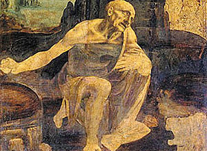 São Jerônimo no Deserto', Leonardo da Vinci
