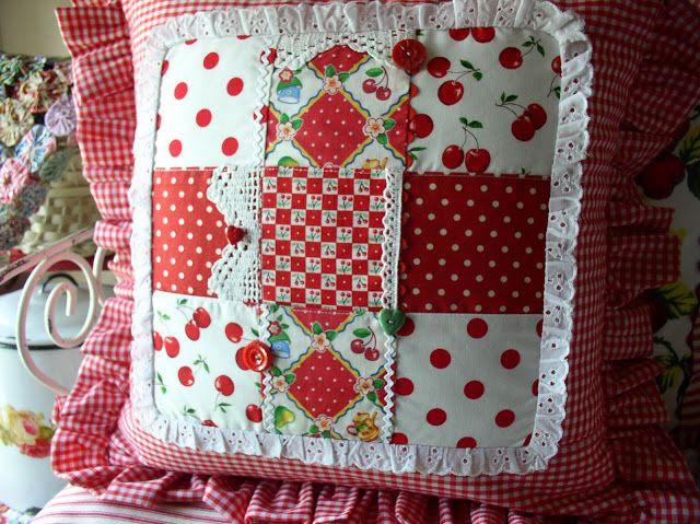 Patchwork pillow that I designed many moons back.