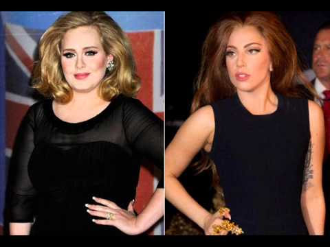 Adele vs. Lady Gaga Weight Gain - YouTube