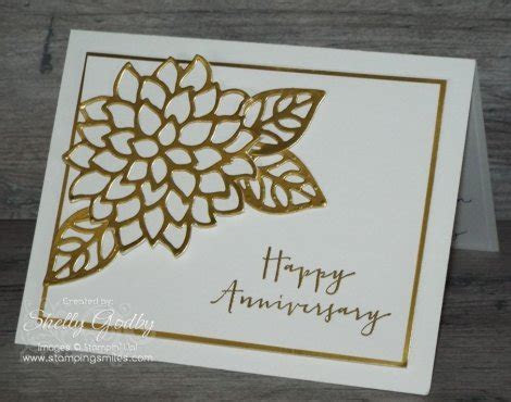 Easy and elegant with touch of gold May Flowers card
