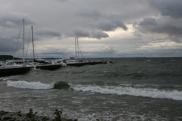 sister bay, wind storm