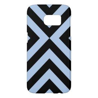 Light Blue and Black Chevrons Samsung Galaxy S7