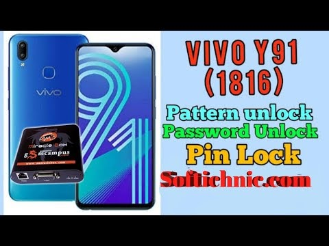 vivo y91 (1816) format pin pattern unlock miracle crack by softichnic