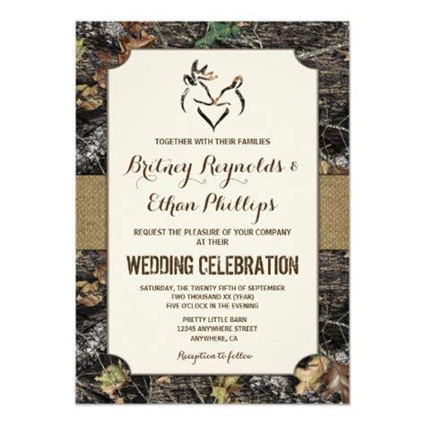 Burlap   Deer Hunting Camo Wedding Invitations   Zazzle