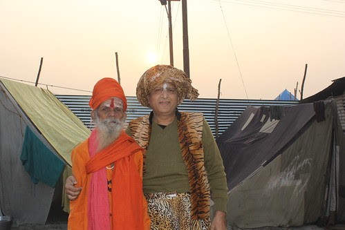 The Naga Sadhu And The Beggar Poet by firoze shakir photographerno1