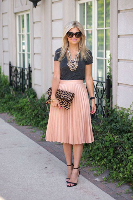 ootd pleated midi skirt