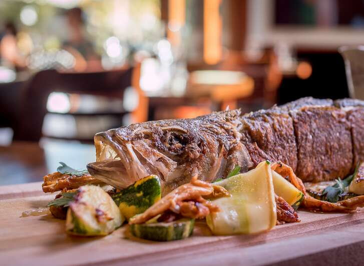 The whole stuffed Branzino at Zut in Berkeley, Calif., is seen on Thursday, August 27th, 2015.