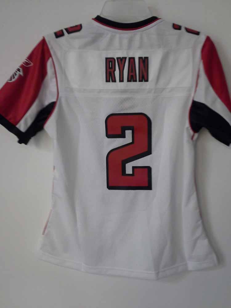 Reebok Womens Premier NFL Jersey Falcons Matt Ryan White sz M