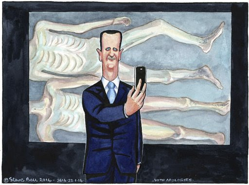 22.01.14: Steve Bell on evidence of 'systematic killing' in Syria