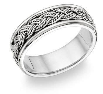 Mens Platinum Wedding Rings   Fisherman knot ring