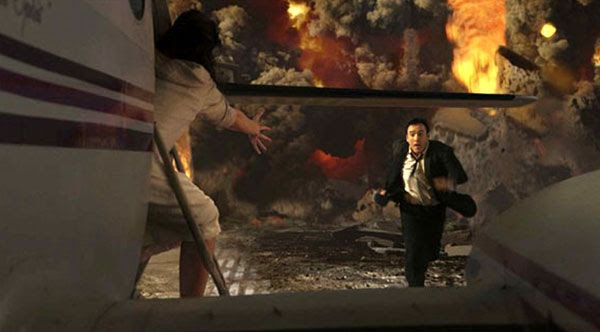John Cusack tries to flee from the supervolcano at Yellowstone National Park in '2012'.