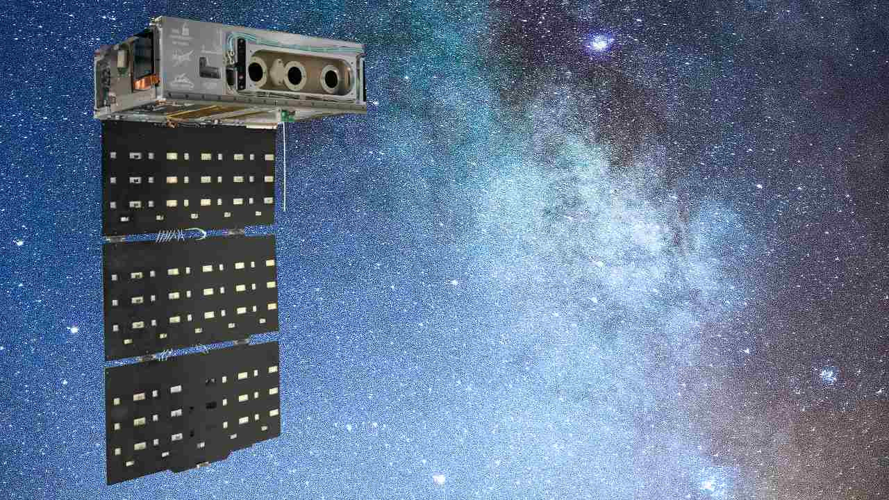 HaloSat is a small satellite that looks at the hot gas around the Milky Way. Image Credits: Blue Canyon Technologies, Inc.