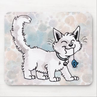 Cat with Toy Mouse Mousepad mousepad