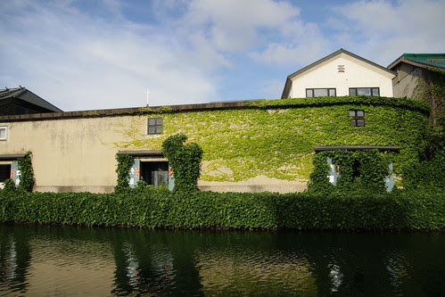 A building by the canal