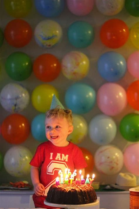 balloon wall   birthday boy great idea
